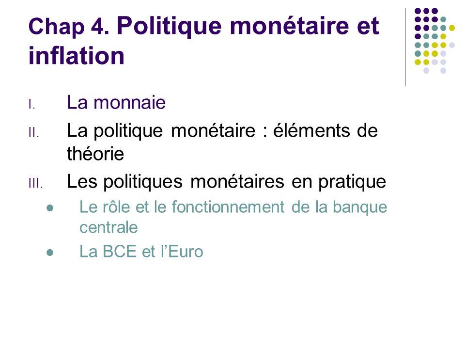 Chap 4. Politique monétaire et inflation
