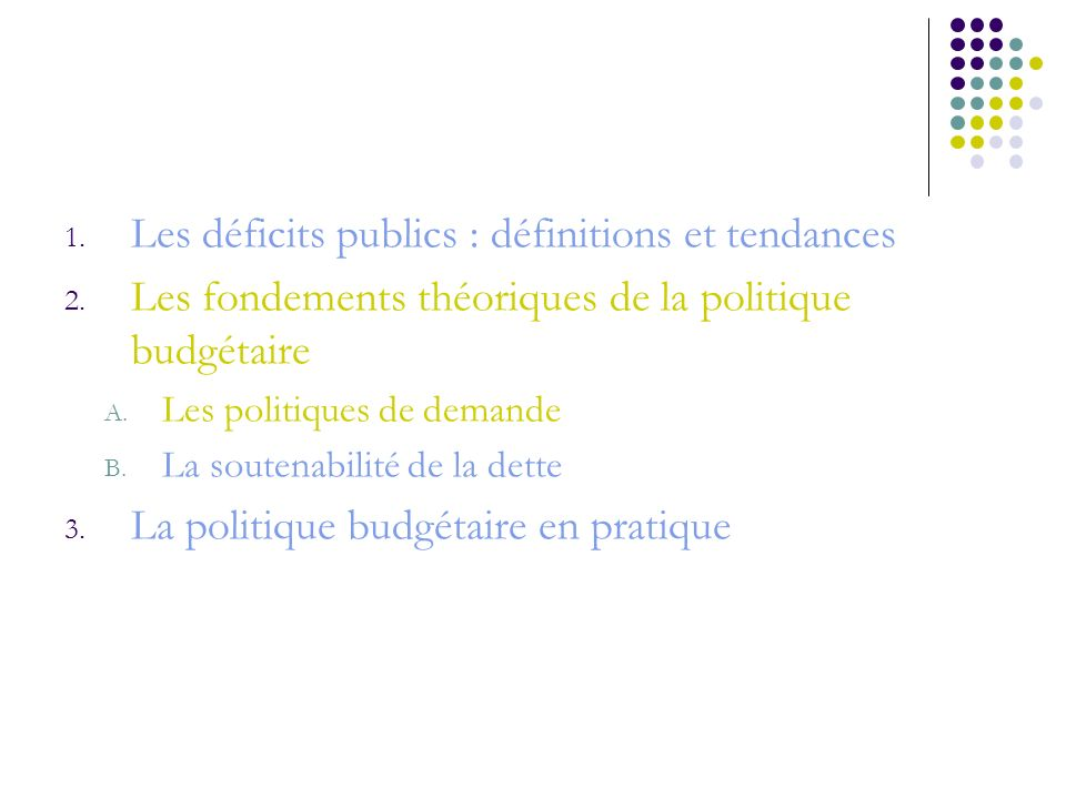 Les déficits publics : définitions et tendances