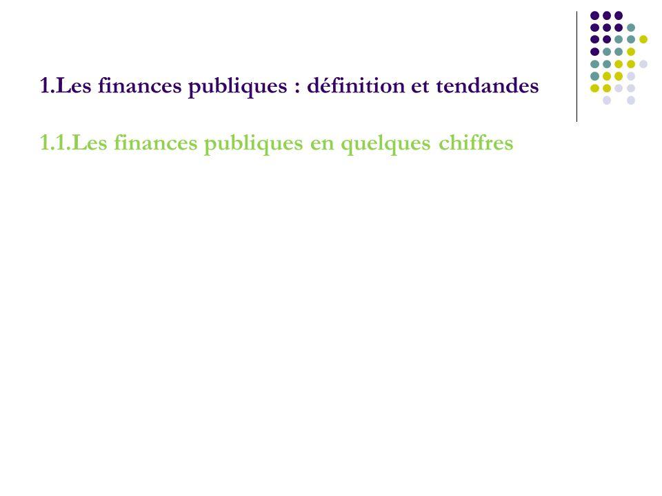 1.Les finances publiques : définition et tendandes
