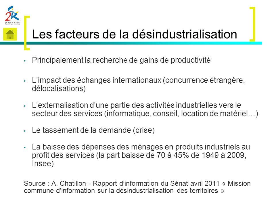 Les facteurs de la désindustrialisation