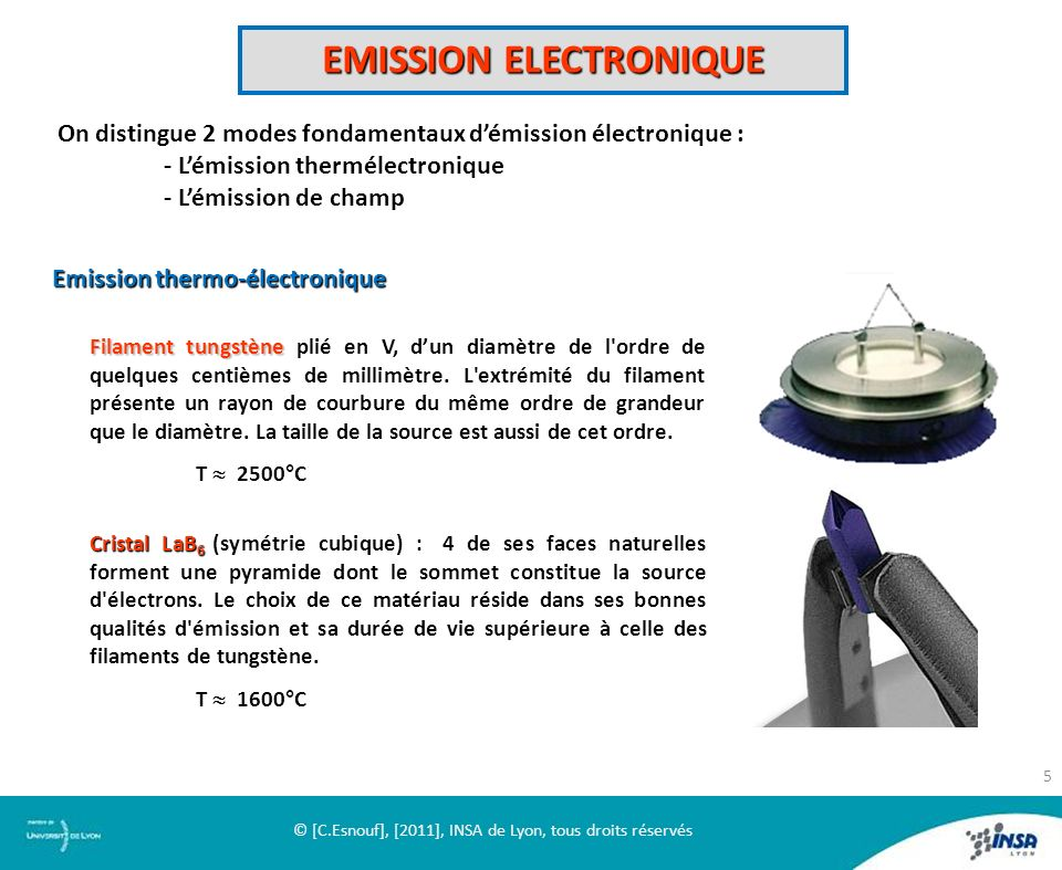 EMISSION ELECTRONIQUE