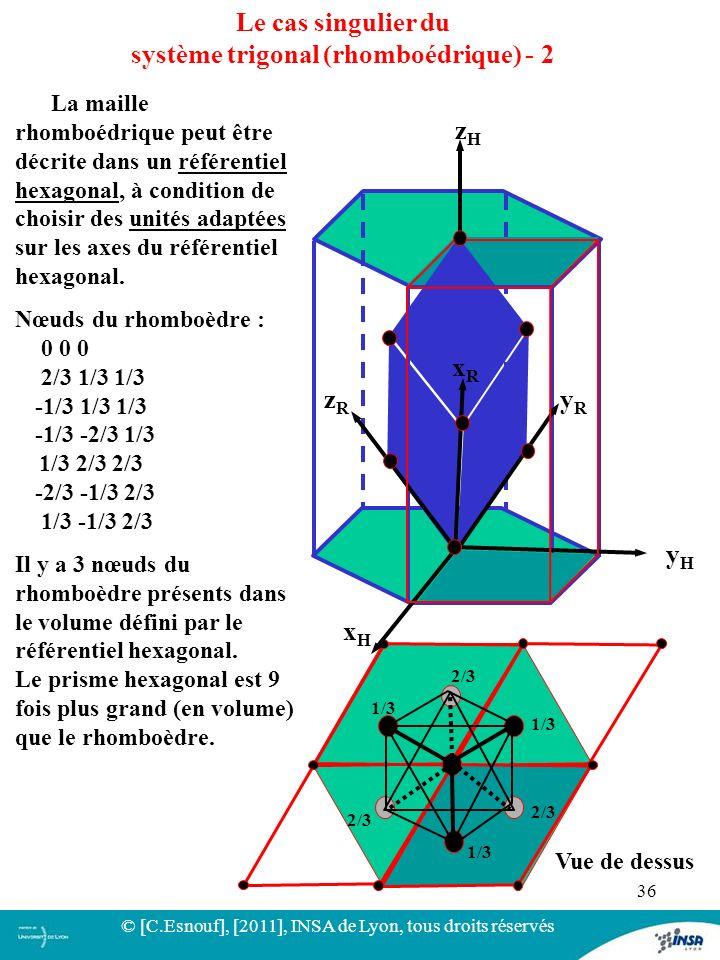 système trigonal (rhomboédrique) - 2