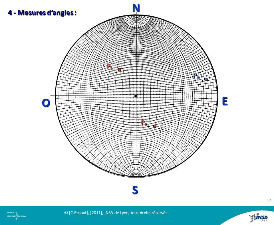 N 4 - Mesures d'angles : P1 P2 P3 O E S