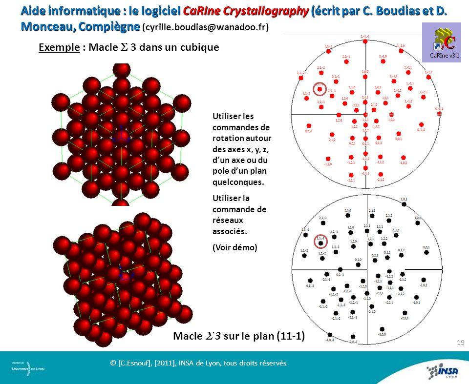 Aide informatique : le logiciel CaRIne Crystallography (écrit par C