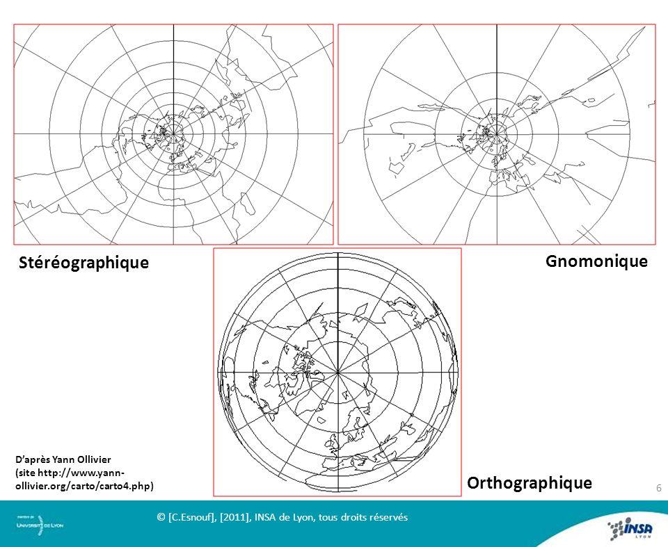 Stéréographique Gnomonique Orthographique D'après Yann Ollivier