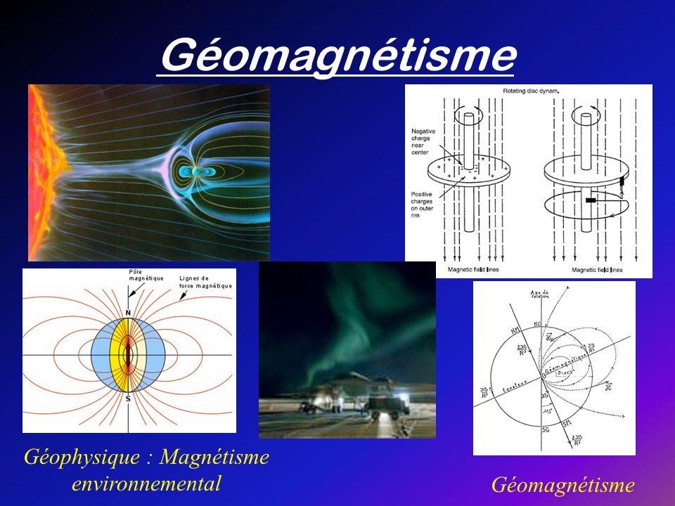 Géophysique : Magnétisme environnemental