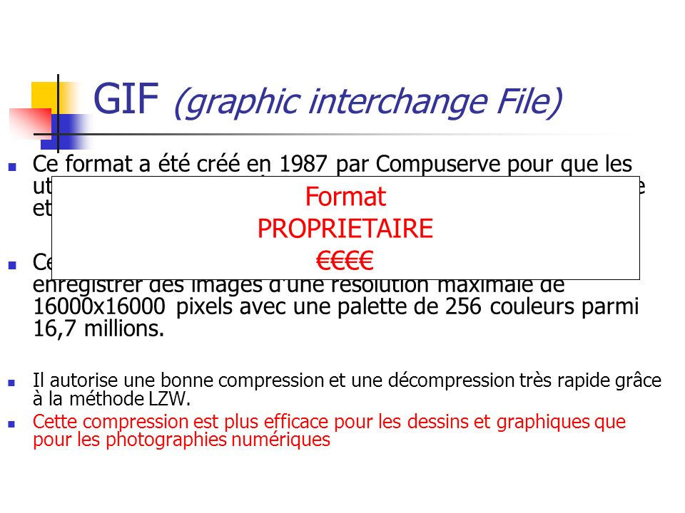 GIF (graphic interchange File)