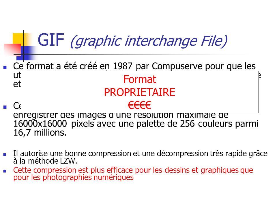 GIF (graphic interchange File)