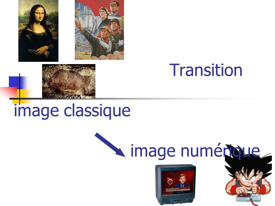 Transition image classique image numérique