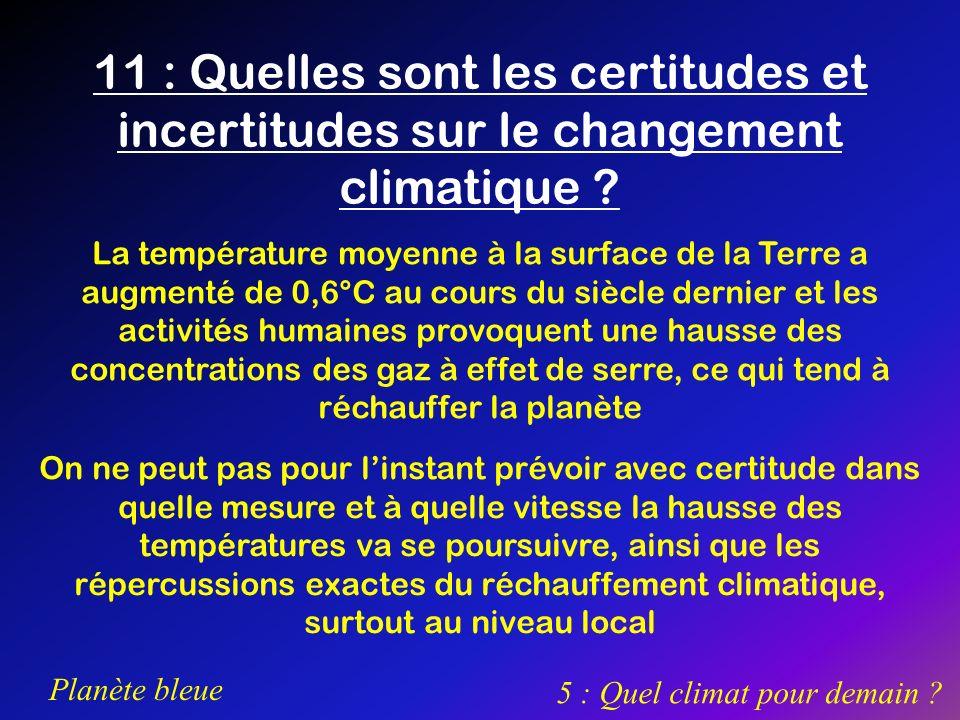 5 : Quel climat pour demain