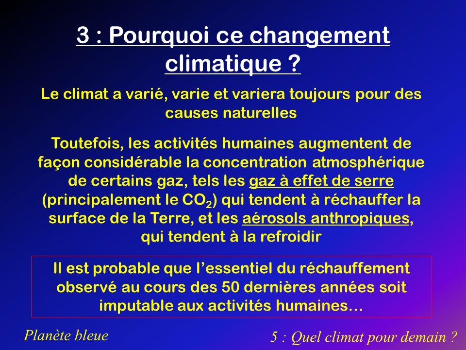 3 : Pourquoi ce changement climatique