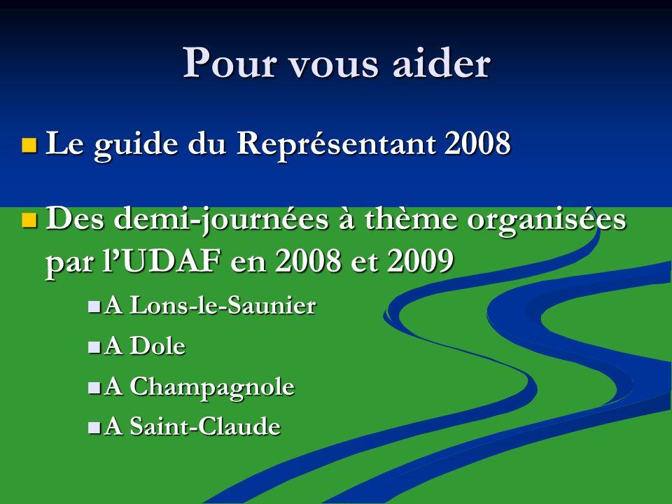 Pour vous aider Le guide du Représentant 2008