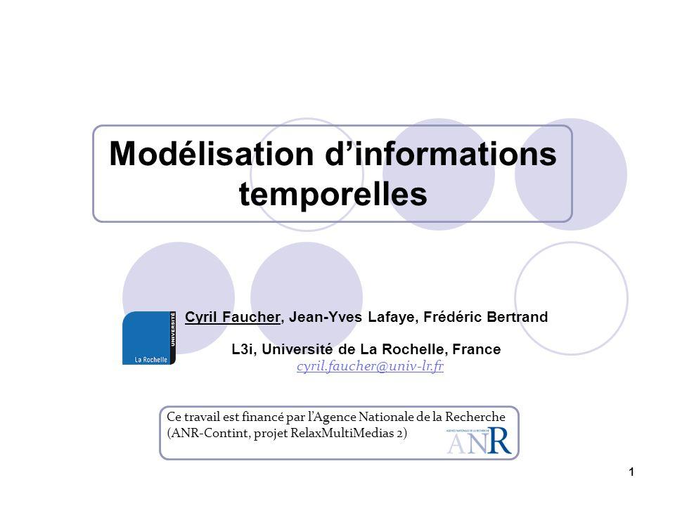 Modélisation d'informations temporelles