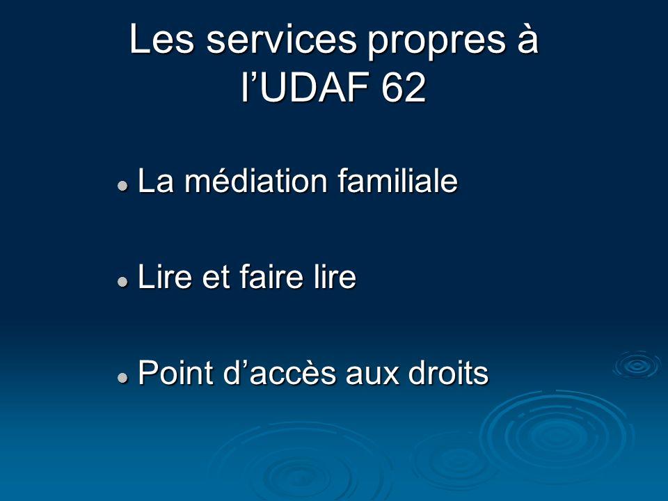 Les services propres à l'UDAF 62