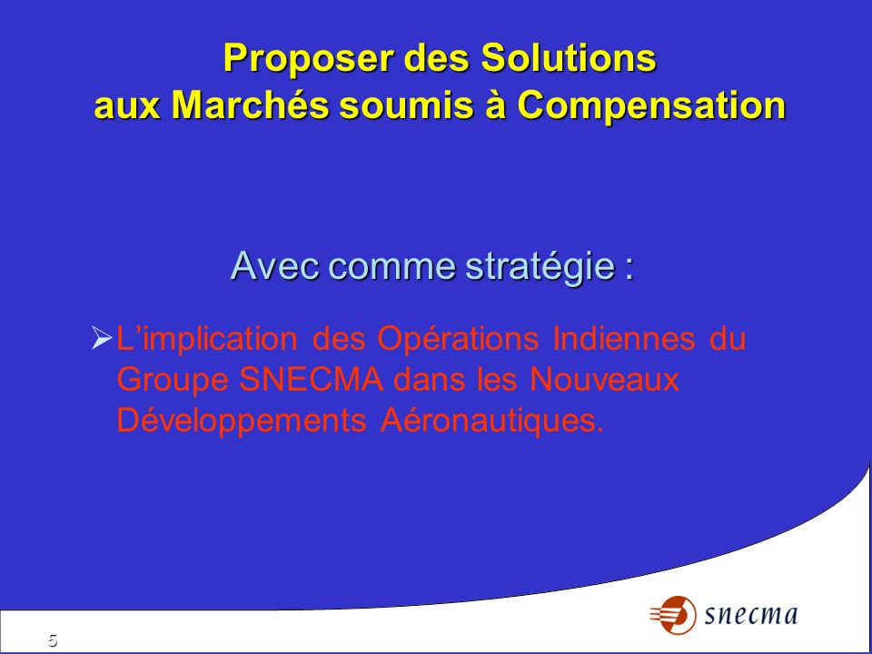 Proposer des Solutions aux Marchés soumis à Compensation