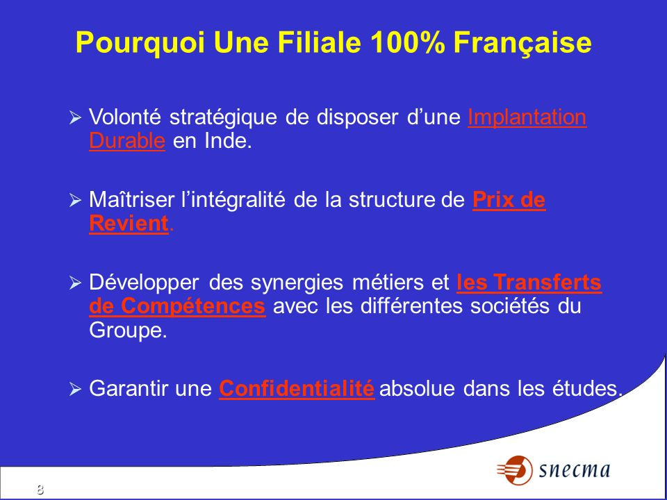 Pourquoi Une Filiale 100% Française