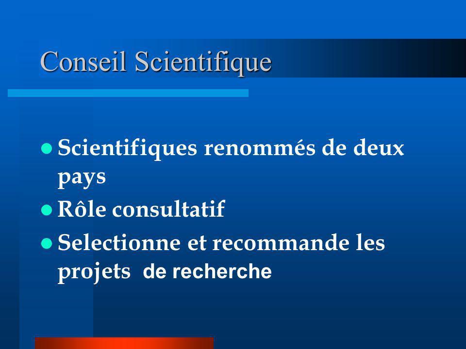 Conseil Scientifique Scientifiques renommés de deux pays