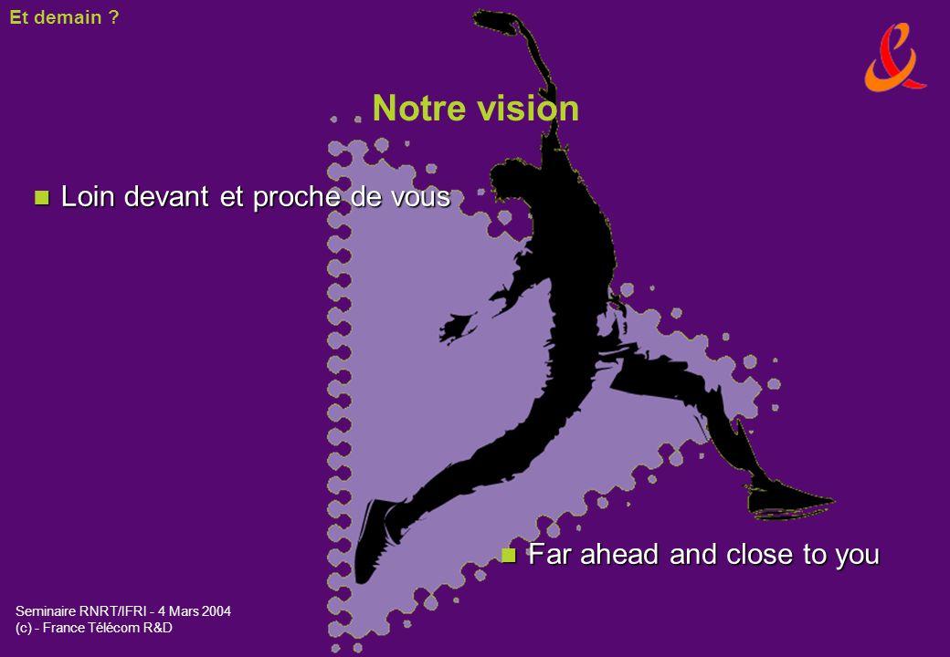 Notre vision Loin devant et proche de vous Far ahead and close to you