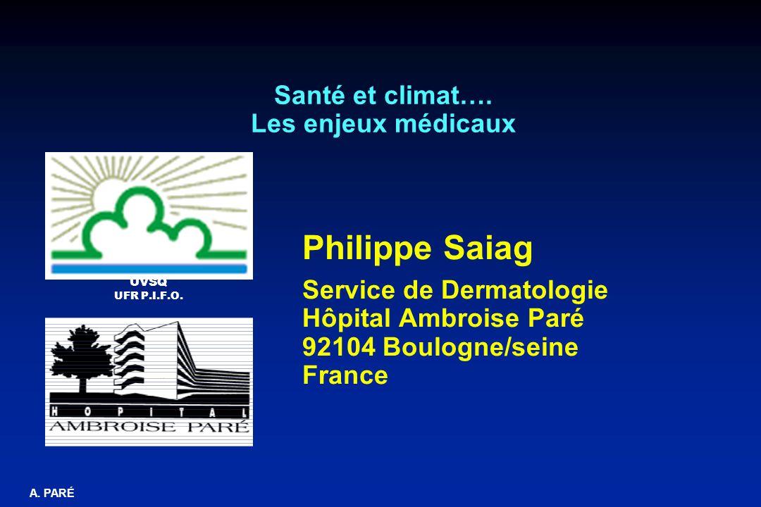 Santé et climat…. Les enjeux médicaux
