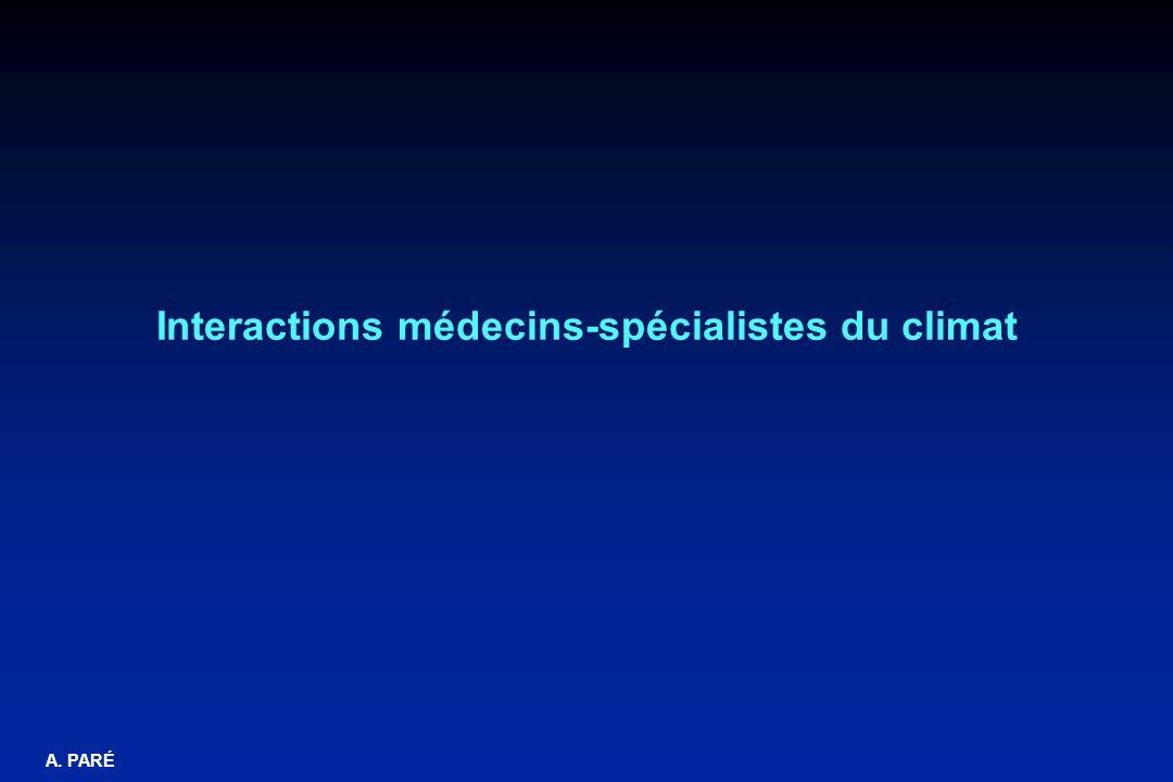 Interactions médecins-spécialistes du climat
