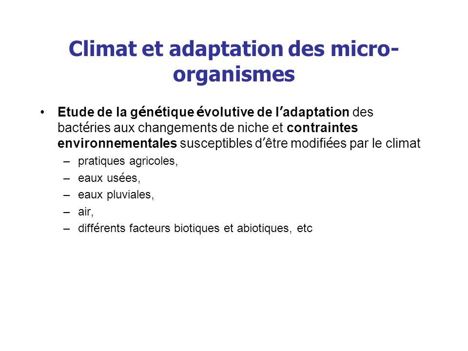 Climat et adaptation des micro-organismes