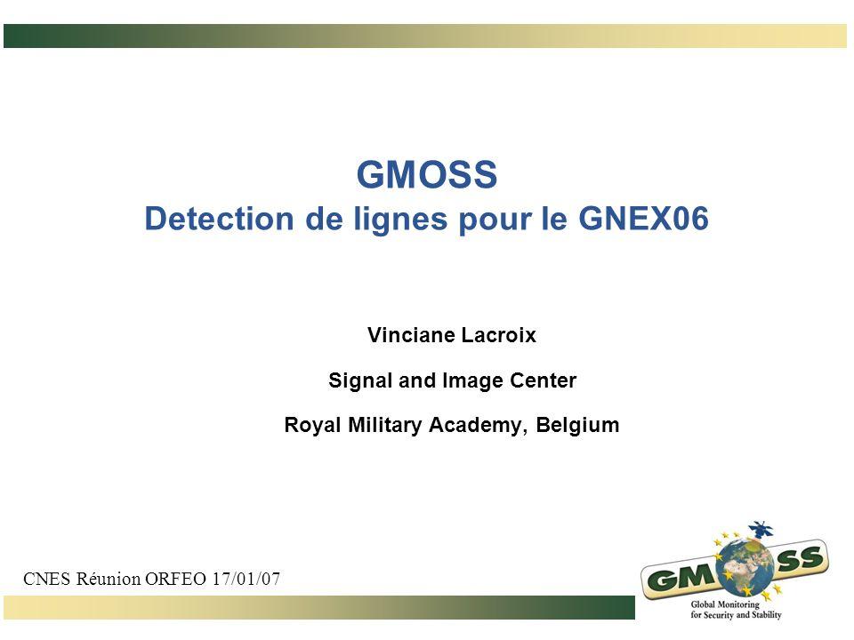 GMOSS Detection de lignes pour le GNEX06