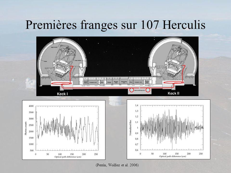 Premières franges sur 107 Herculis