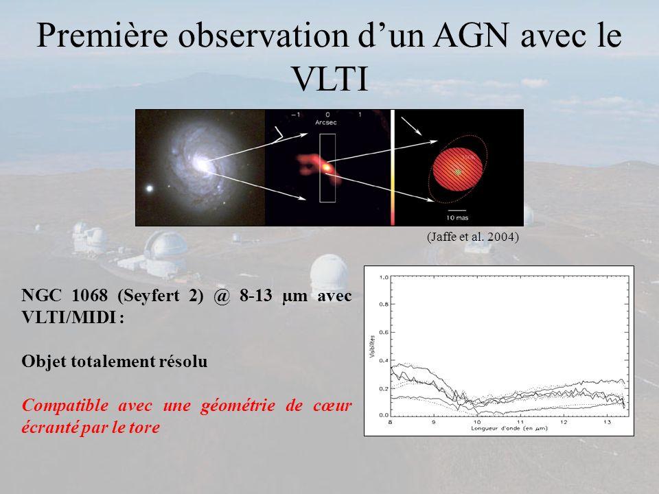 Première observation d'un AGN avec le VLTI