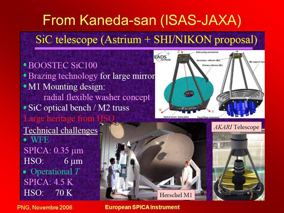 From Kaneda-san (ISAS-JAXA)