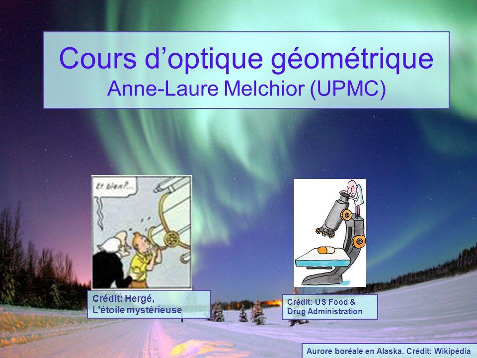 Cours d'optique géométrique Anne-Laure Melchior (UPMC)
