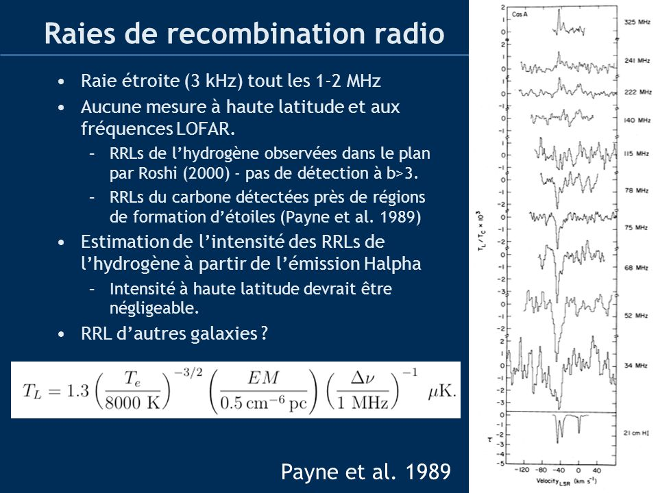 Raies de recombination radio