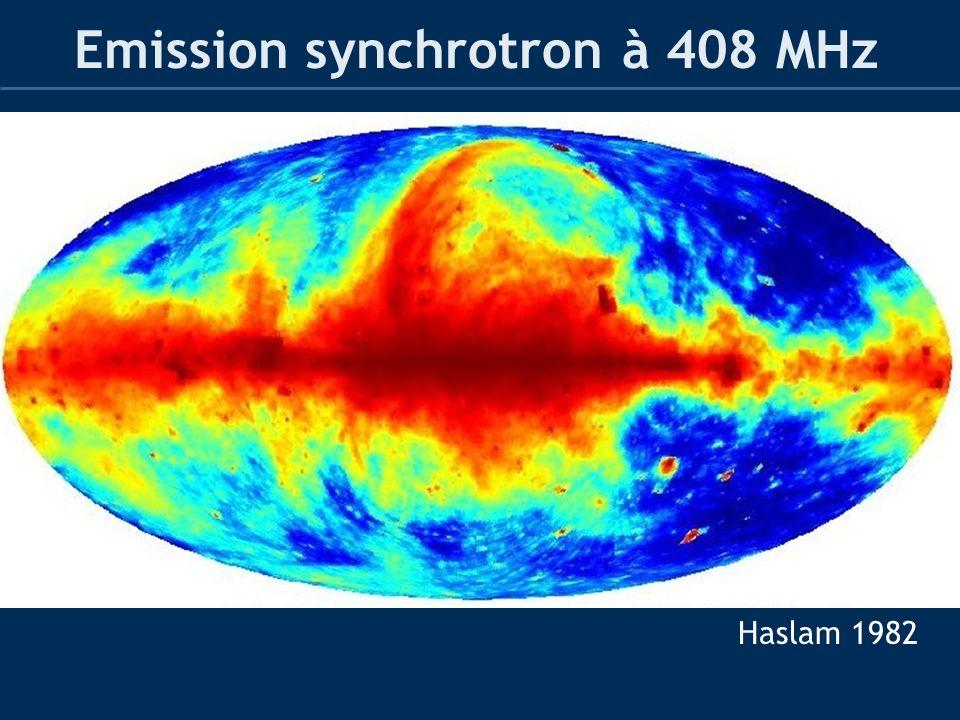 Emission synchrotron à 408 MHz