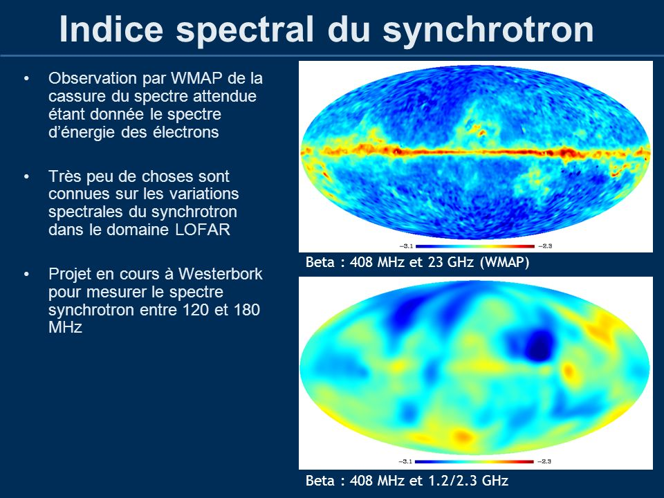 Indice spectral du synchrotron