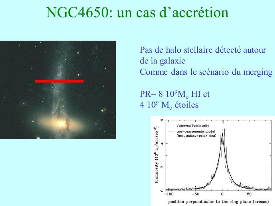 NGC4650: un cas d'accrétion