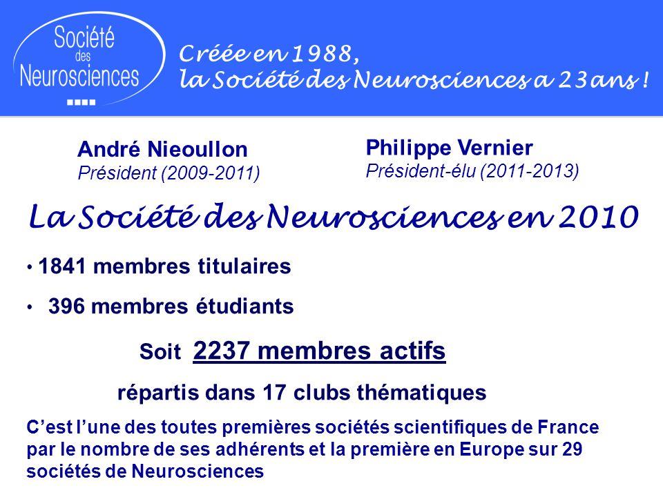La Société des Neurosciences en 2010