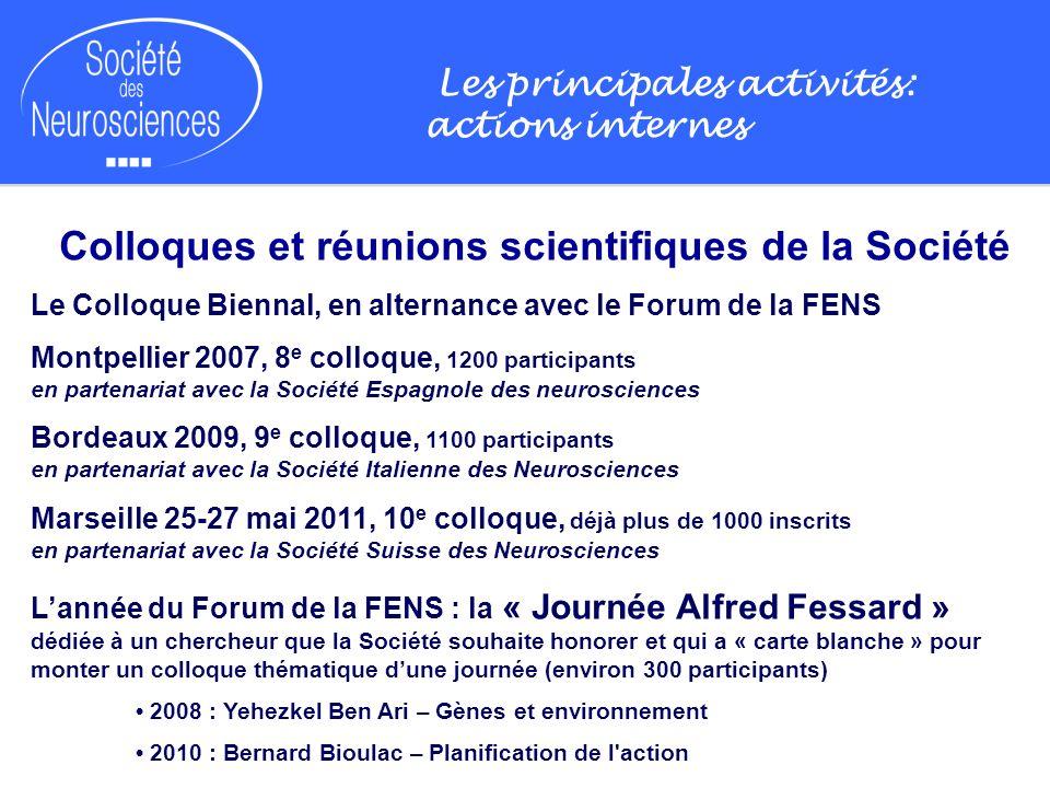 Colloques et réunions scientifiques de la Société