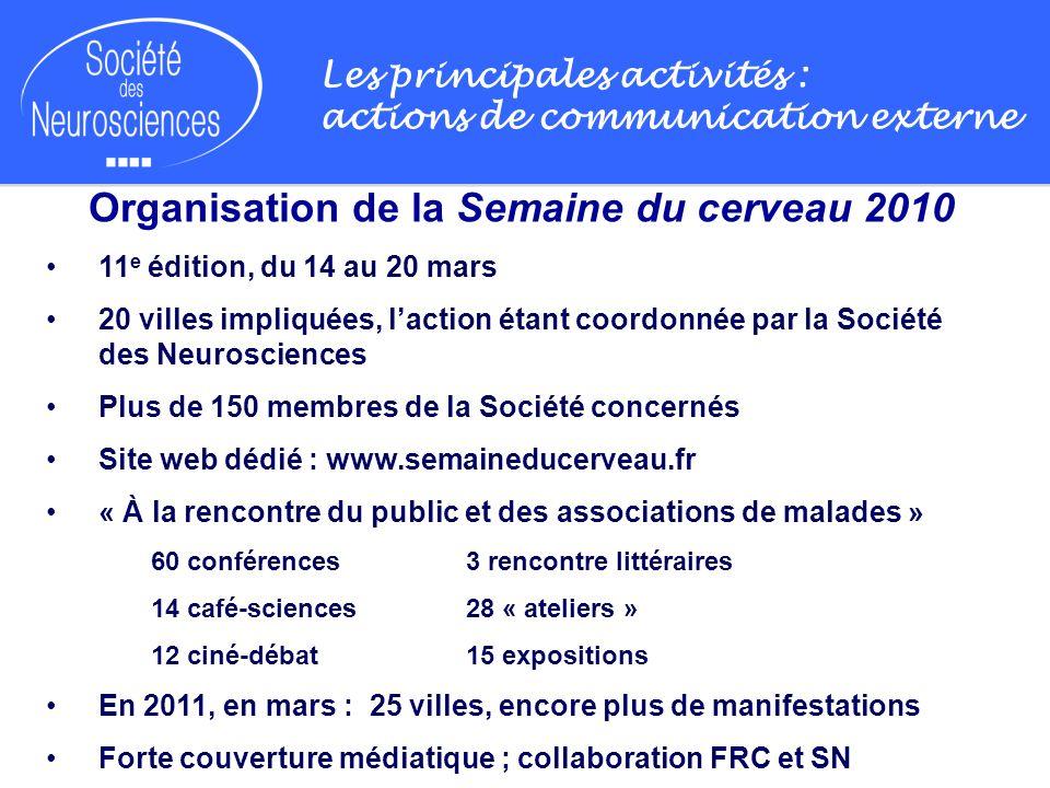 Organisation de la Semaine du cerveau 2010