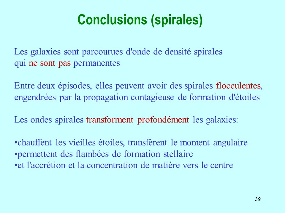 Conclusions (spirales)