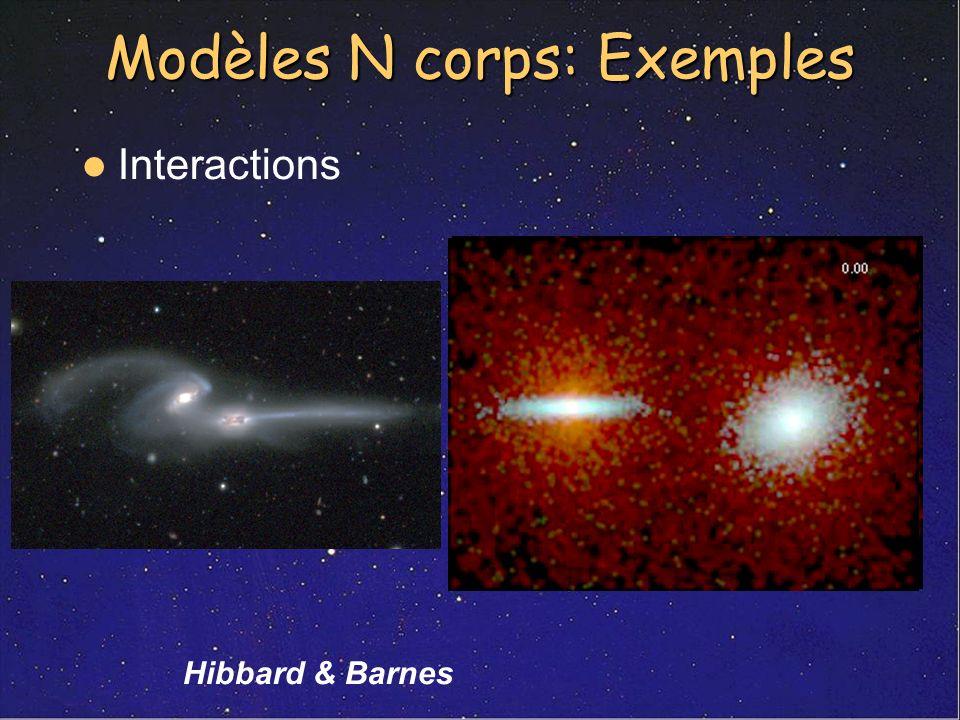 Modèles N corps: Exemples