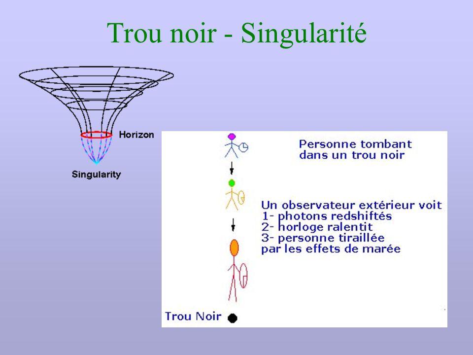 Trou noir - Singularité