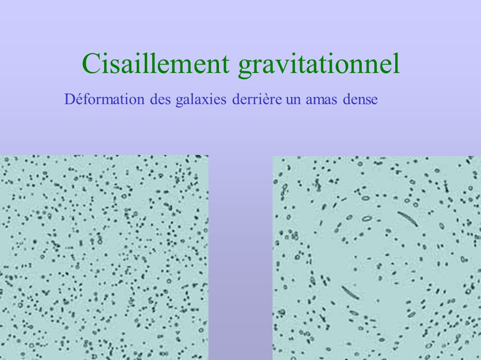 Cisaillement gravitationnel