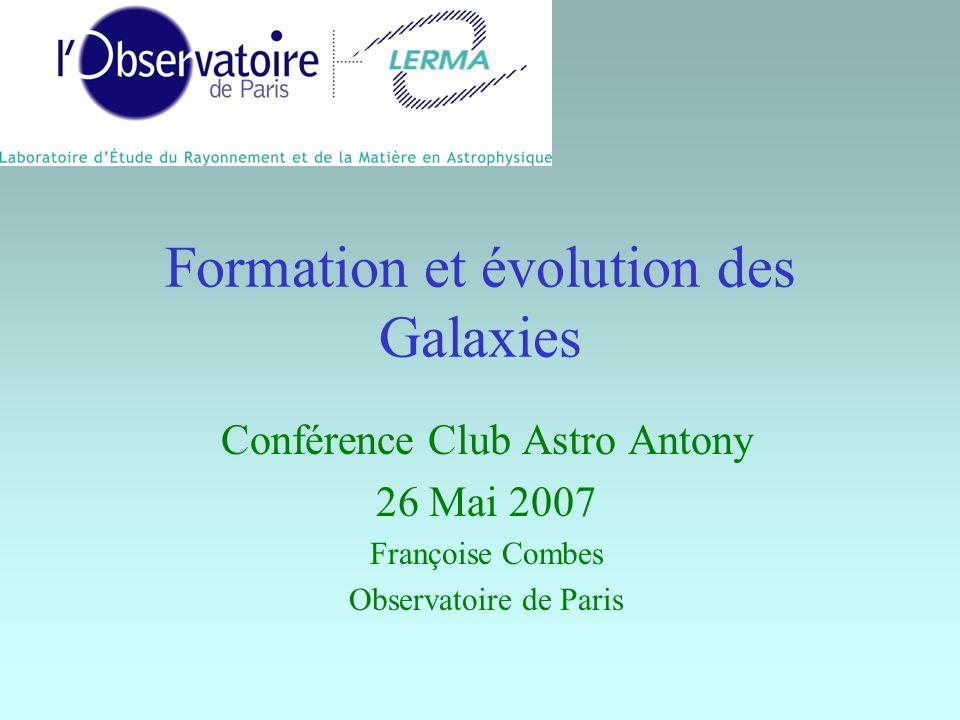 Formation et évolution des Galaxies