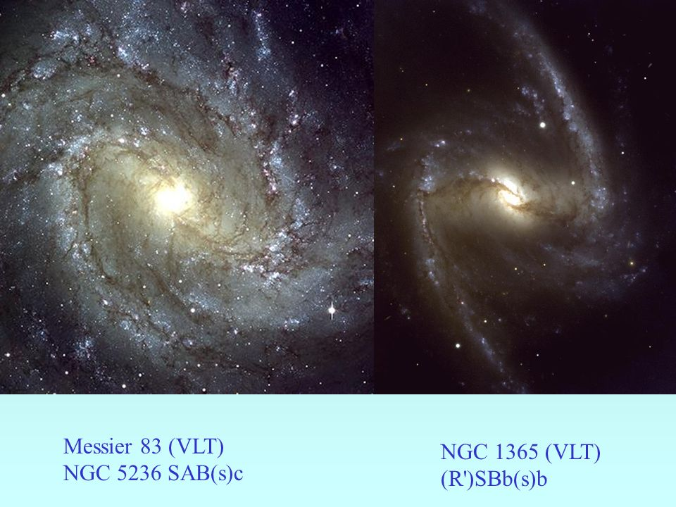 Messier 83 (VLT) NGC 5236 SAB(s)c NGC 1365 (VLT) (R )SBb(s)b