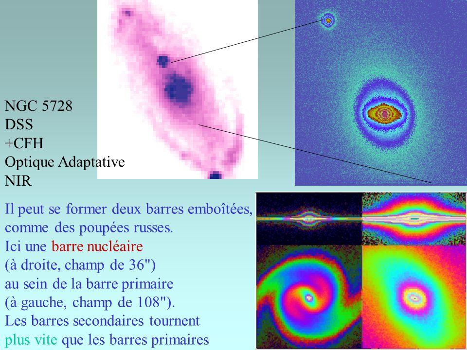 NGC 5728 DSS. +CFH. Optique Adaptative. NIR. Il peut se former deux barres emboîtées, comme des poupées russes.