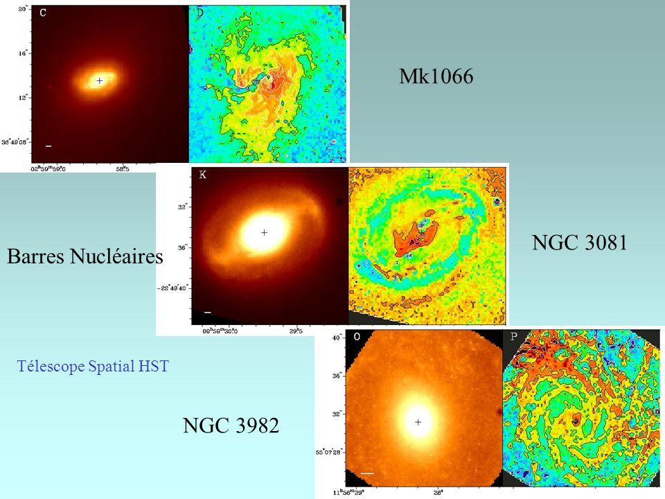 Mk1066 NGC 3081 Barres Nucléaires Télescope Spatial HST NGC 3982
