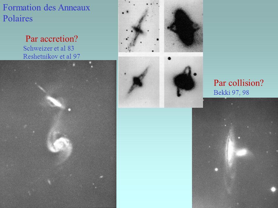 Formation des Anneaux Polaires Par accretion Par collision