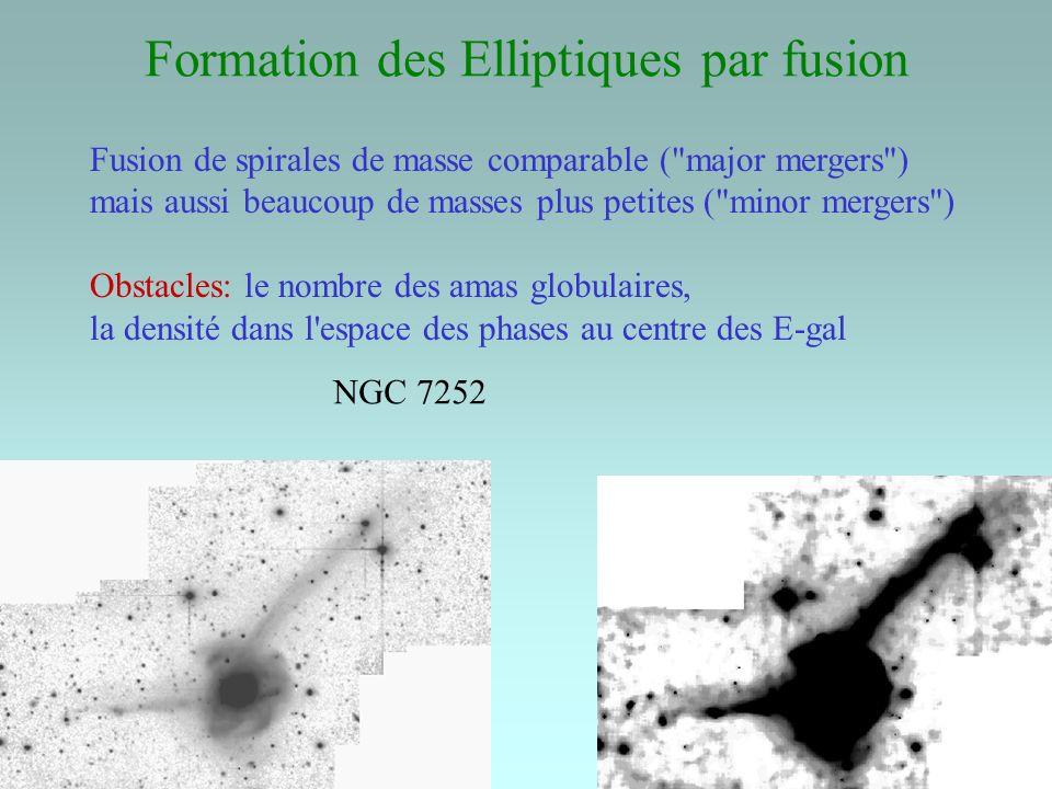 Formation des Elliptiques par fusion