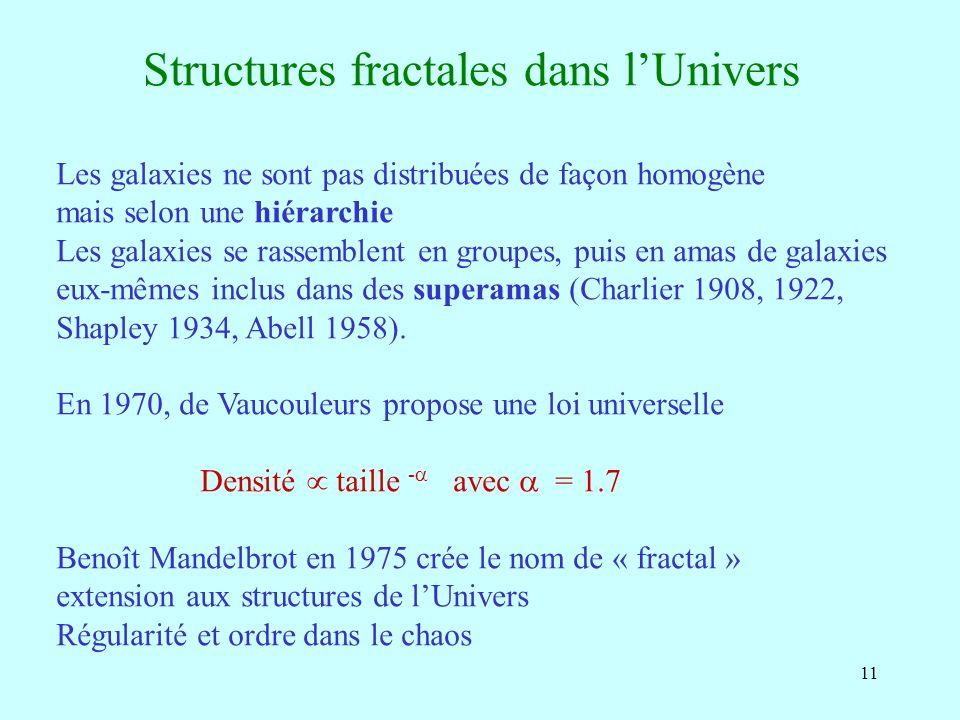Structures fractales dans l'Univers