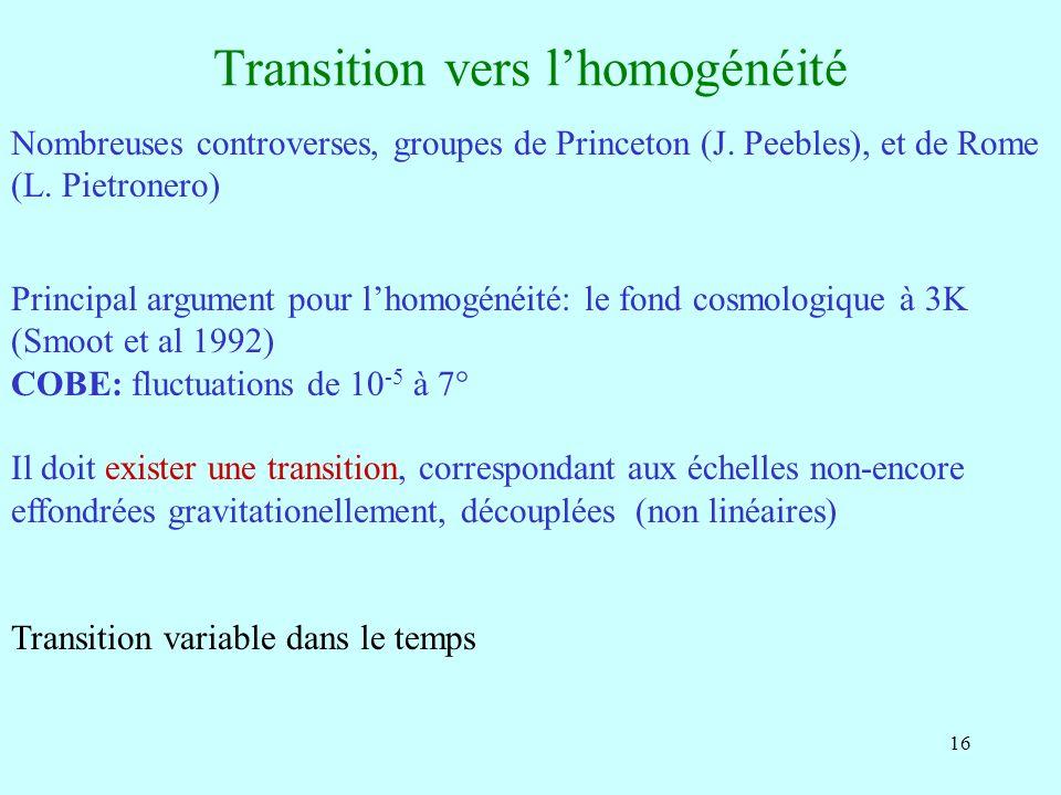 Transition vers l'homogénéité