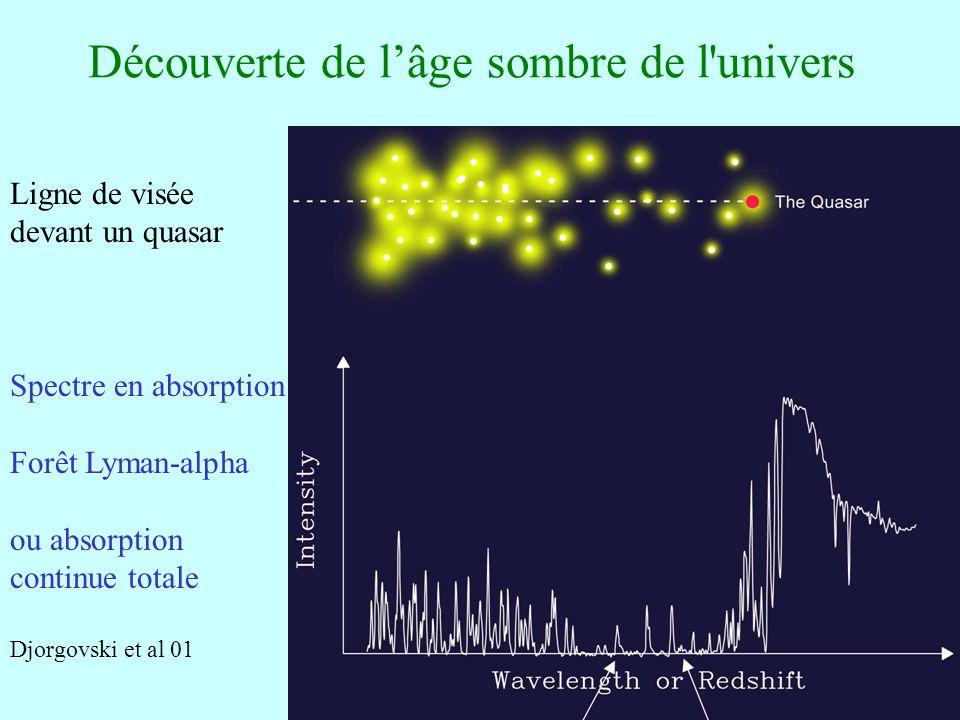Découverte de l'âge sombre de l univers